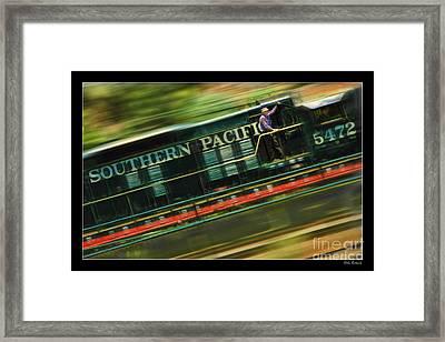 The Train Ride Framed Print