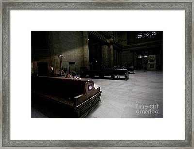 The Train Station Lobby Art Deco Style Framed Print