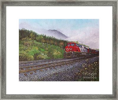 The Train West Framed Print