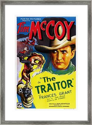 The Traitor, Us Poster Art, Tim Mccoy Framed Print