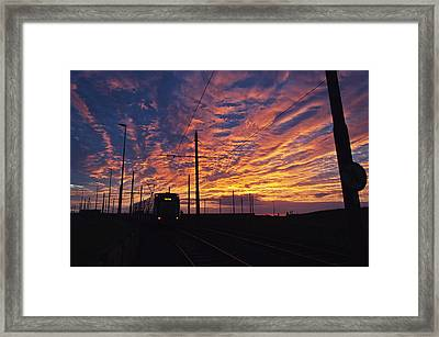 The Tram To Star Gate Framed Print