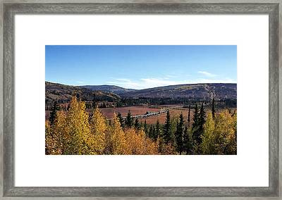The Trans Alaska Pipline Framed Print