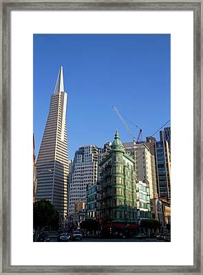 The Transamerica Pyramid Skyscraper Framed Print by David R. Frazier