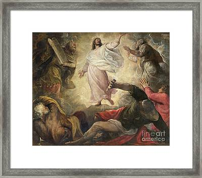 The Transfiguration Of Christ Framed Print by Titian