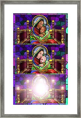 The Transfiguration Of Madonna And Child  Framed Print by Reggie Duffie