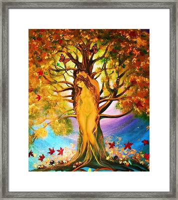the Transformation of Adam and Eve  Framed Print