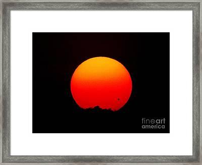 The Transit Of Venus At Sunrise Framed Print