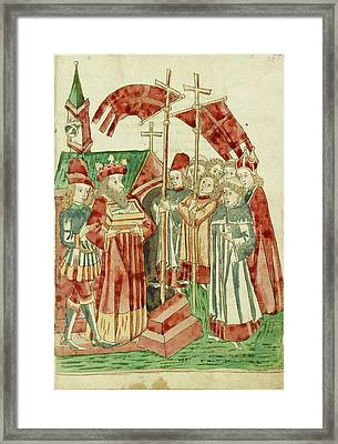 The Translation Of Josaphats Relics To A Church By A King Framed Print by Litz Collection