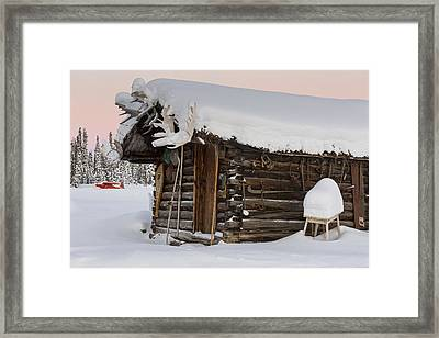 The Trappers Cabin Framed Print
