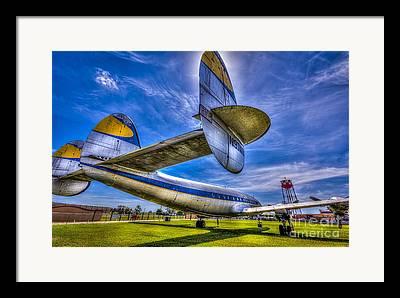 Commuter Airplane Framed Prints
