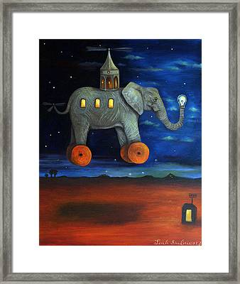 The Traveler  Framed Print by Leah Saulnier The Painting Maniac