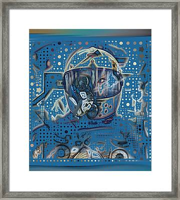 The Traveler Framed Print by Russell Pierce