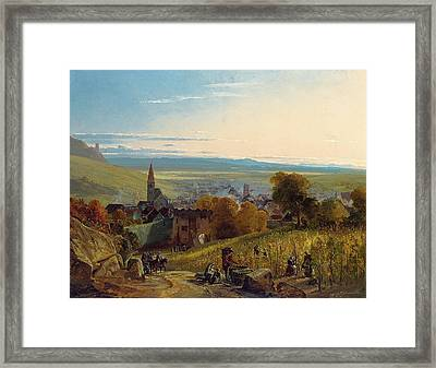 The Travellers Framed Print by Christian Ernst Bernhard Morgenstern