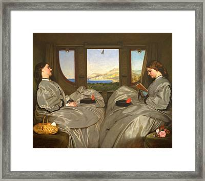 The Travelling Companions Framed Print by Augustus Leopold Egg