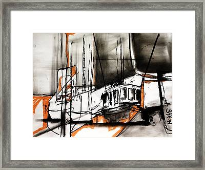 The Trawlers Framed Print by Helen Syron
