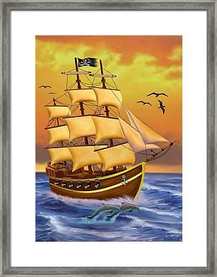 The Treasure Hunter Framed Print