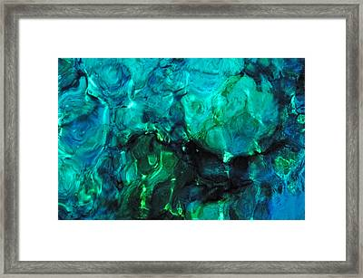 The Treasure Of The Ocean. Tropical Water Framed Print