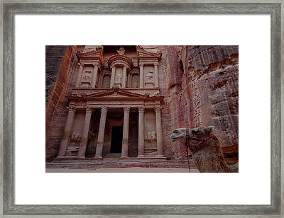 The Treasury At Petra, Jordan Framed Print