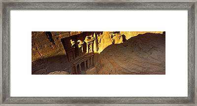 The Treasury At Petra, Wadi Musa, Jordan Framed Print by Panoramic Images