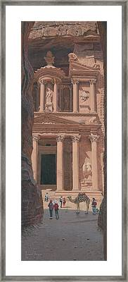The Treasury Petra Jordan Framed Print