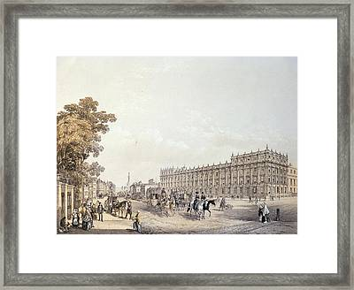 The Treasury, Whitehall, Pub. By Lloyd Bros. & Co. 1852 Colour Litho Framed Print by Edmund Walker