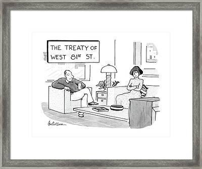 The Treaty Of West 81st Street Framed Print