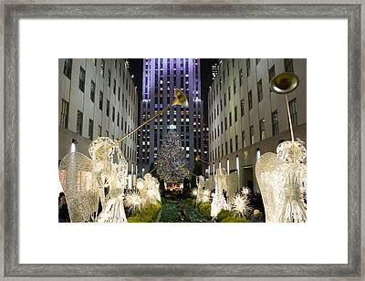 The Tree At Rockefeller Center Framed Print by Kenneth Cole