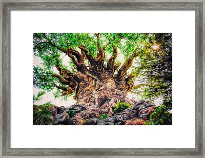 Framed Print featuring the photograph The Tree by Joshua Minso