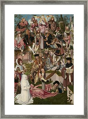The Tree Of Jesse, Circle Of Geertgen Tot Sint Jans Framed Print