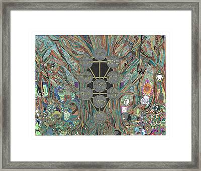 The Tree Of Life As A Redwood Tree In Oregon Framed Print by Phable Omsri