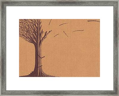 Framed Print featuring the drawing The Tree Of Life - Immigration by Giuseppe Epifani
