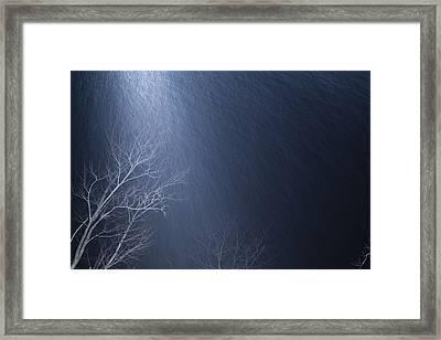 The Tree Under The Snowfall Framed Print