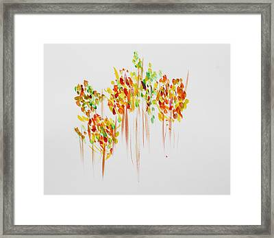 The Trees Are Dancing Framed Print by Tom Atkins