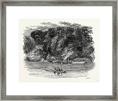 The Trent And Donington Cliff, Uk, England Framed Print by Litz Collection