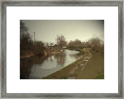 The Trent And Mersey Canal At Willington Framed Print by Litz Collection