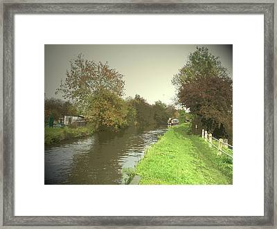 The Trent And Mersey Canal Near Clay, Autumnal Towpath Framed Print