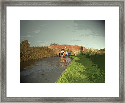 The Trent And Mersey Canal Near, The Vessel Seen Here Framed Print by Litz Collection