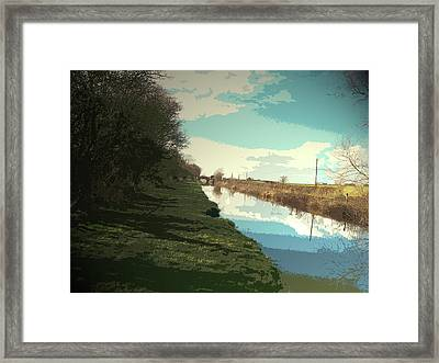 The Trent And Mersey Canal, Pictured Here Between Barrow Framed Print by Litz Collection