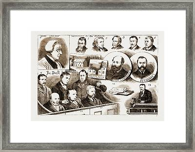 The Trial At Belfast Of Members Of The Irish Patriotic Framed Print by Litz Collection