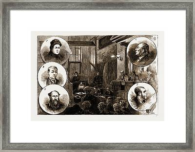 The Trial Of Patrick Odonnell At The Old Bailey Framed Print