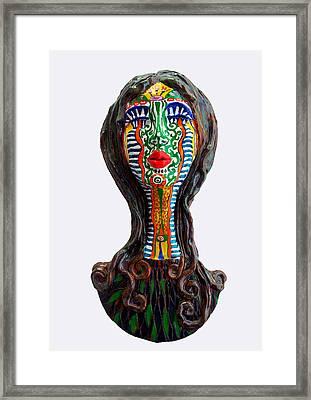 The Tribal Shaman Framed Print by Agnieszka Parys-Kozak