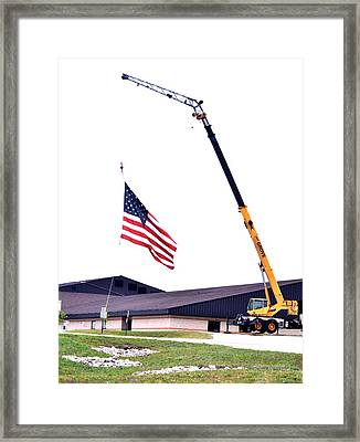 The Tribute At Half Mast Framed Print by Patricia Thebo