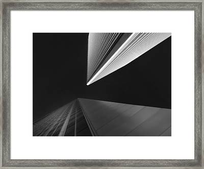 Framed Print featuring the photograph The Tricorn Towers by Michael Hope