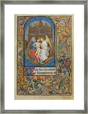 The Trinity Lieven Van Lathem, Flemish, About 1430 - 1493 Framed Print by Litz Collection