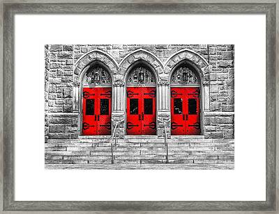 The Trinity Framed Print by S Cass Alston