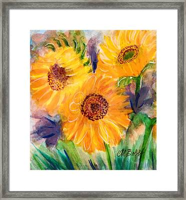 Framed Print featuring the painting The Trio by Margaret Bobb