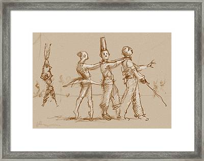 The Triplets Of Ruen Framed Print by H James Hoff