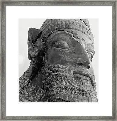 The Triplon Sculpture In Persepolis Framed Print by Horst P. Horst