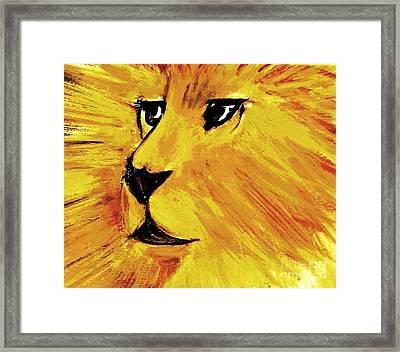 The Triumph Of Aslan Framed Print by Hazel Holland