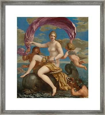The Triumph Of Galatea Framed Print by Charles Alphonse du Fresnoy